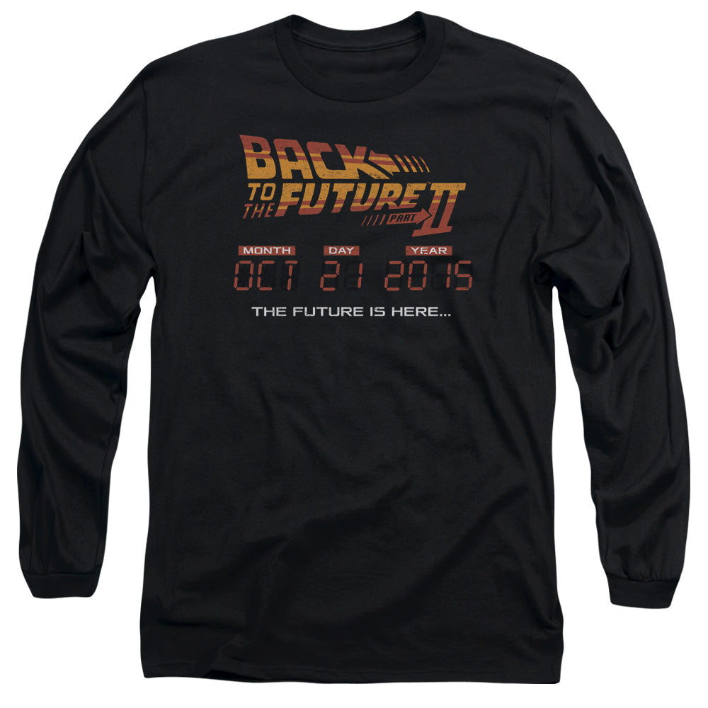Back To The Future Ii - Future Is Here Long Sleeve Adult 18/1
