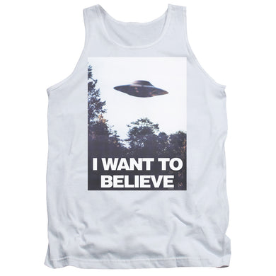 X Files - Believe Poster Adult Tank