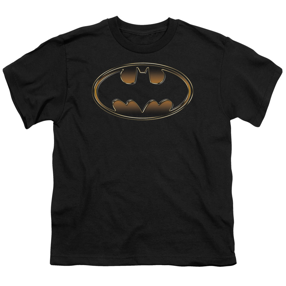 Batman - Black & Gold Embossed Short Sleeve Youth 18/1