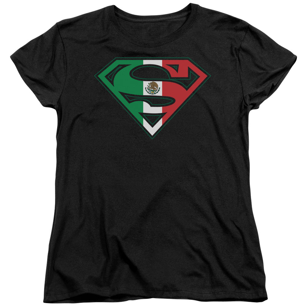 Superman - Mexican Flag Shield Short Sleeve Women's Tee