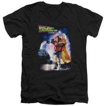 Back To The Future Ii - Poster Short Sleeve Adult V Neck