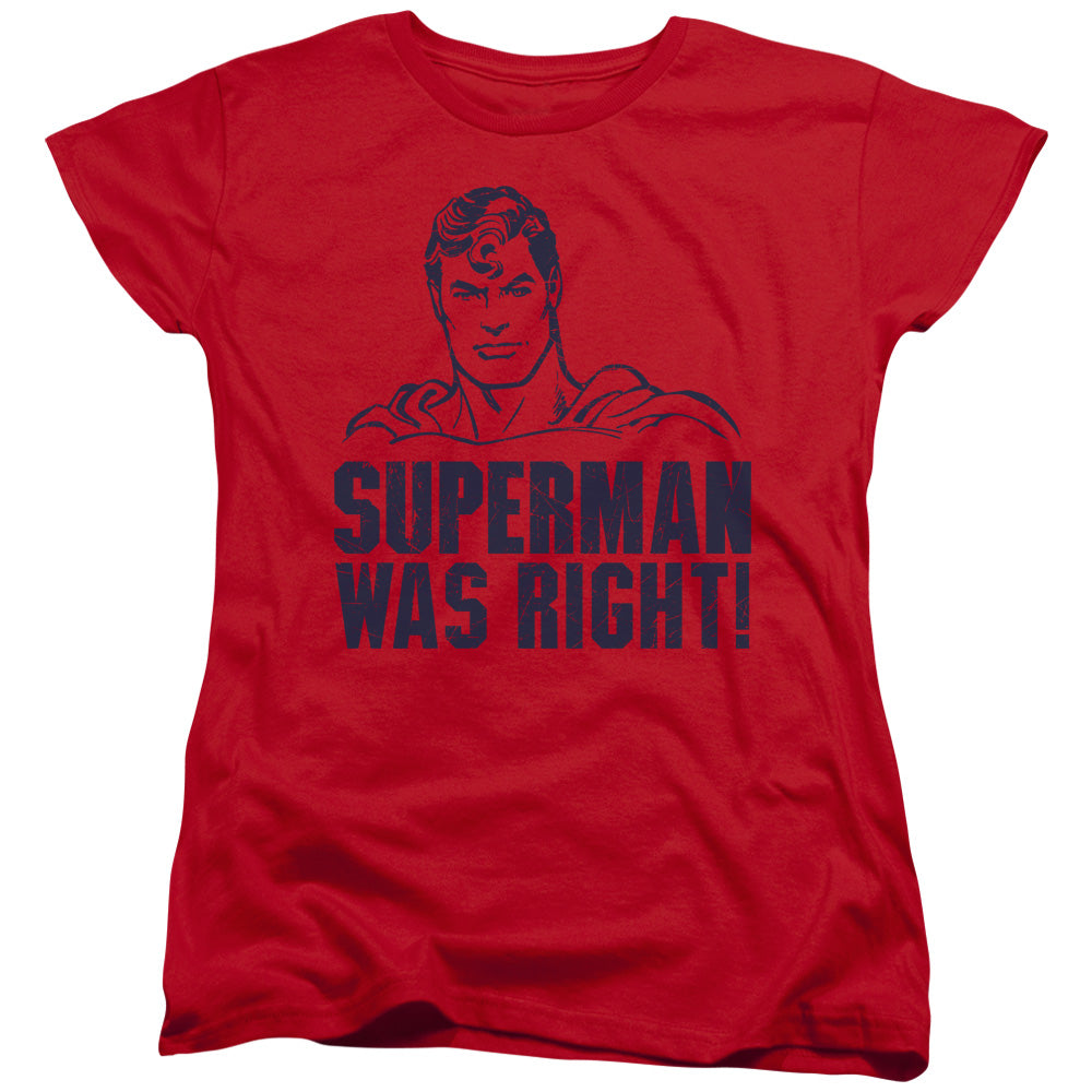 Superman - Was Right Short Sleeve Women's Tee