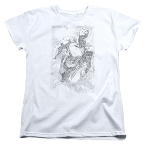 Superman - Exploding Space Sketch Short Sleeve Women's Tee
