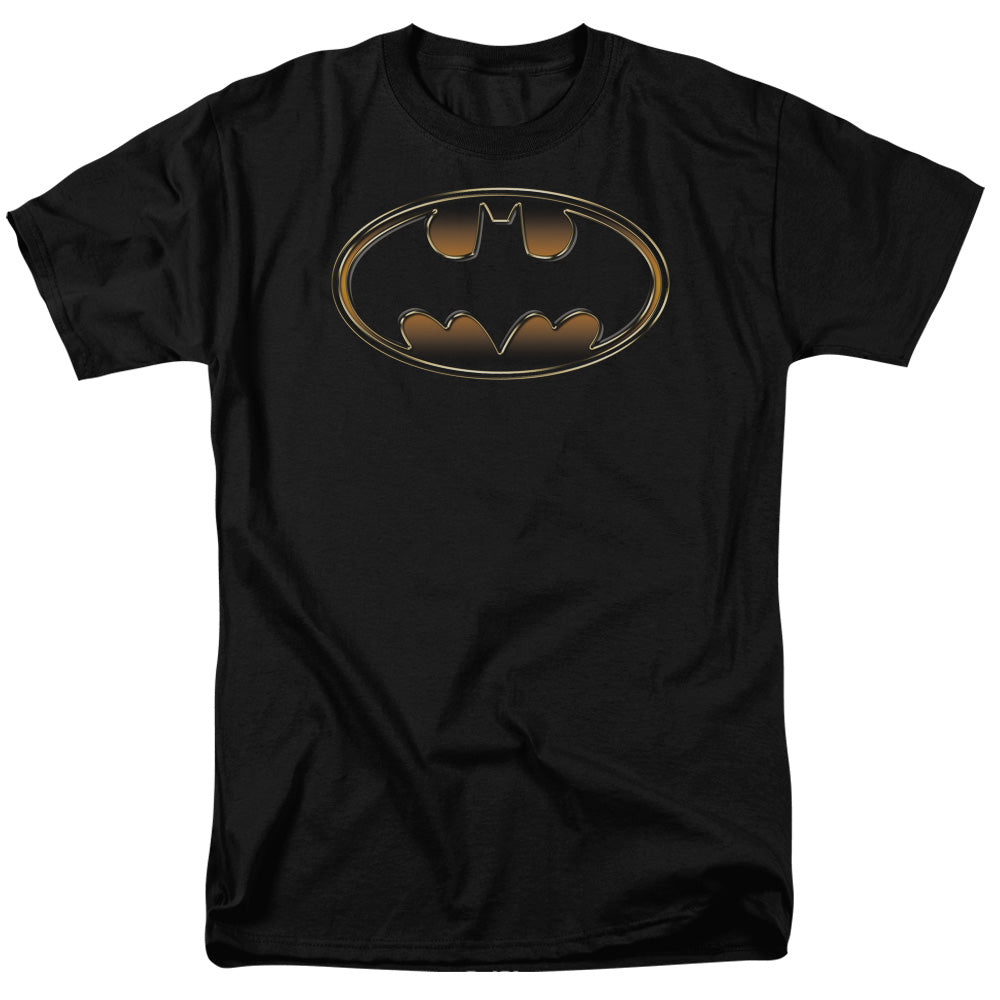 Batman - Black & Gold Embossed Short Sleeve Adult 18/1