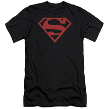 Superman - Red On Black Shield Premium Canvas Adult Slim Fit 30/1