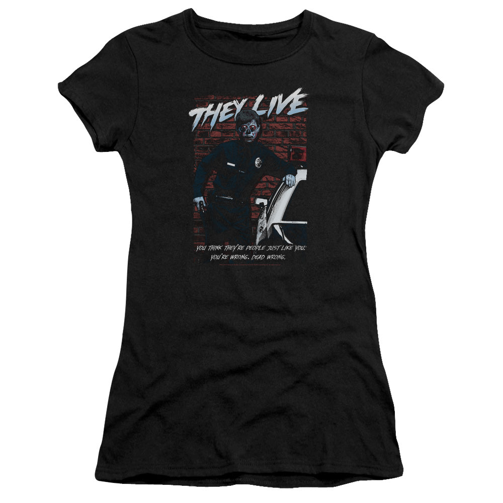 They Live - Dead Wrong Premium Bella Junior Sheer Jersey