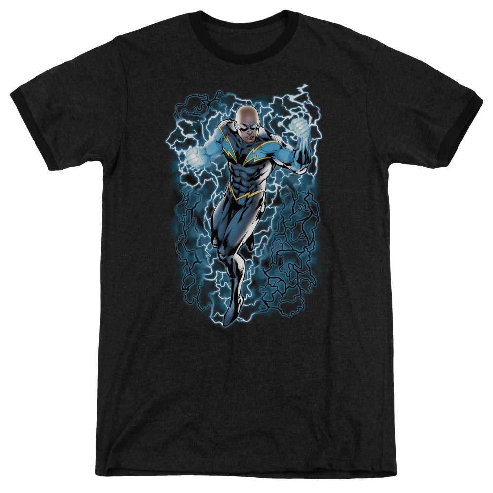 Jla - Black Lightning Bolts Adult Heather