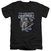 Masters Of The Universe - Straight Outta Grayskull Short Sleeve Adult V Neck