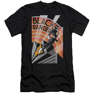 Power Rangers - Black Ranger Deco Short Sleeve Adult 30/1