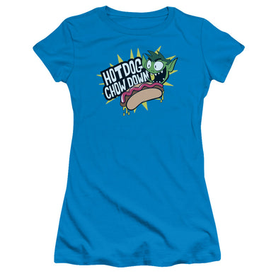 Teen Titans Go - Chowdown Short Sleeve Junior Sheer