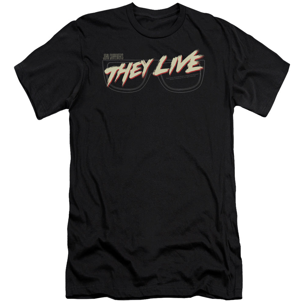 They Live - Glasses Logo Premium Canvas Adult Slim Fit 30/1