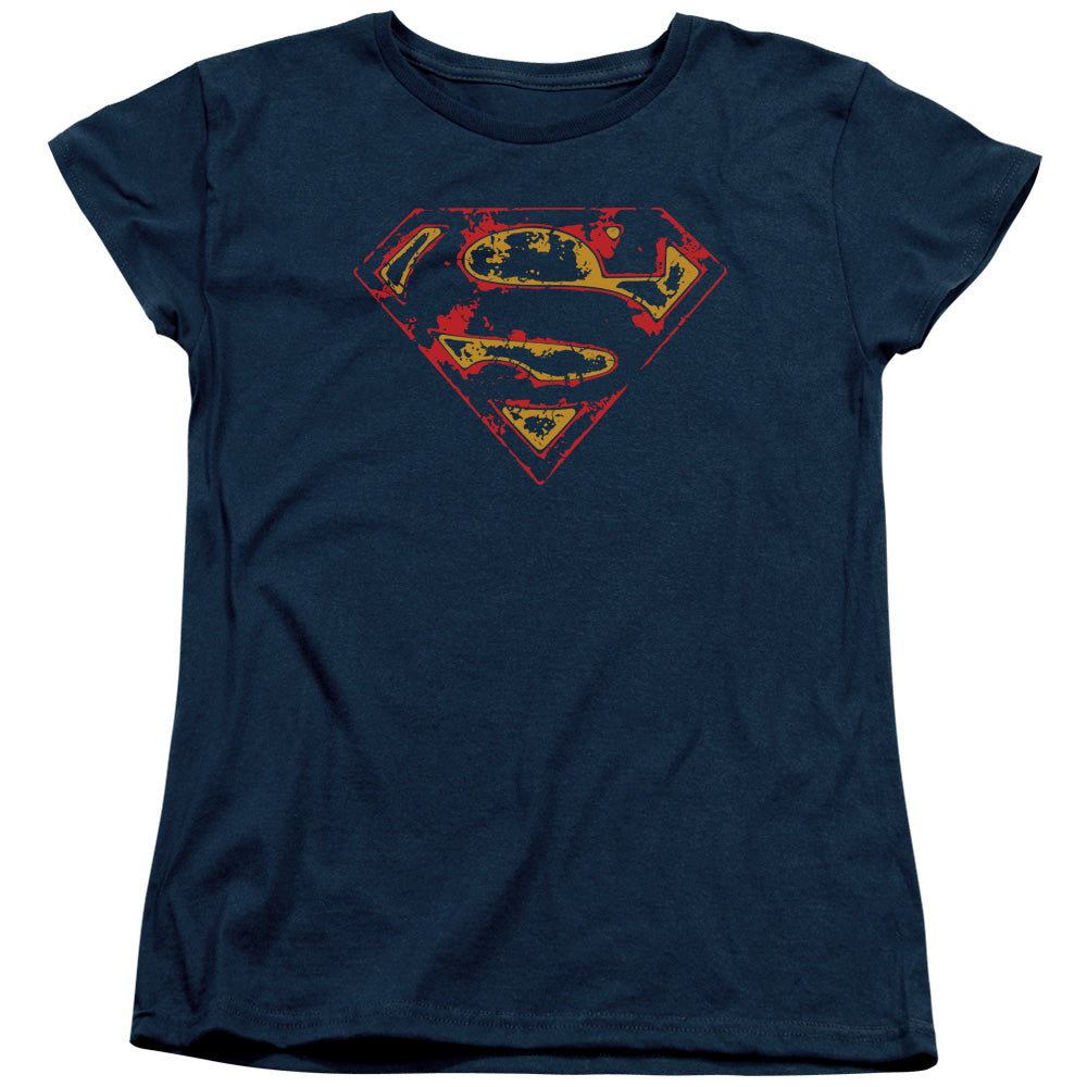 Superman - Super Distressed Short Sleeve Women's Tee