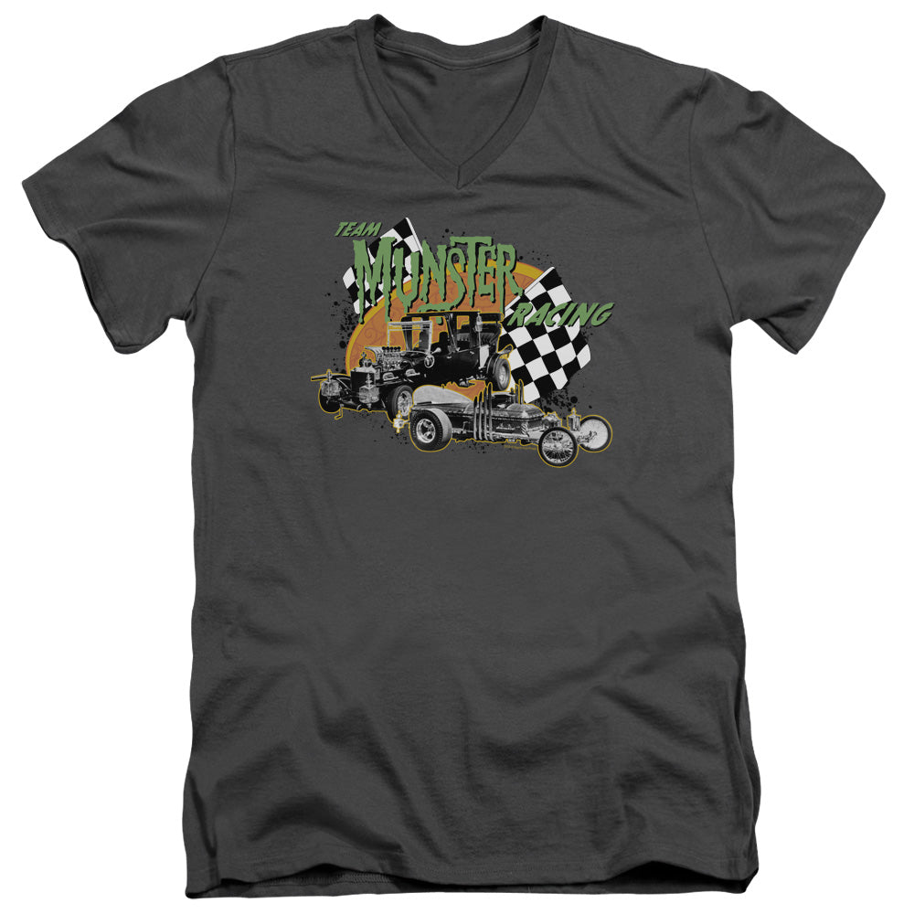 The Munsters - Munster Racing Short Sleeve Adult V Neck