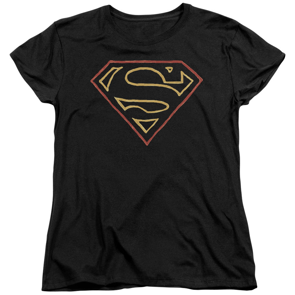 Superman - Colored Shield Short Sleeve Women's Tee