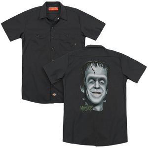 The Munsters - Hermans Head (Back Print) Adult Work Shirt