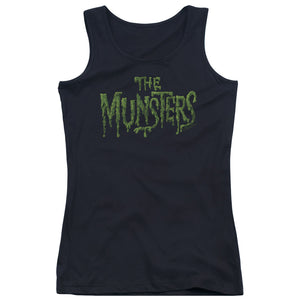 The Munsters - Distress Logo Juniors Tank Top