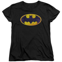 Batman - Bm Neon Distress Logo Short Sleeve Women's Tee