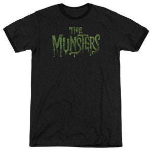 The Munsters - Distress Logo Adult Heather