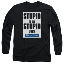 Forrest Gump - Stupid Is Long Sleeve Adult 18/1