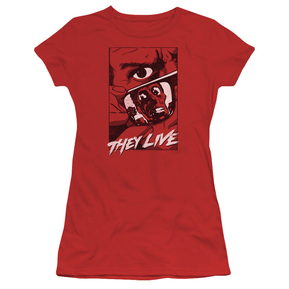 They Live - Graphic Poster Short Sleeve Junior Sheer
