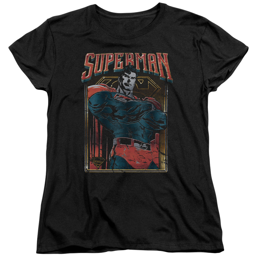Superman - Head Bang Short Sleeve Women's Tee