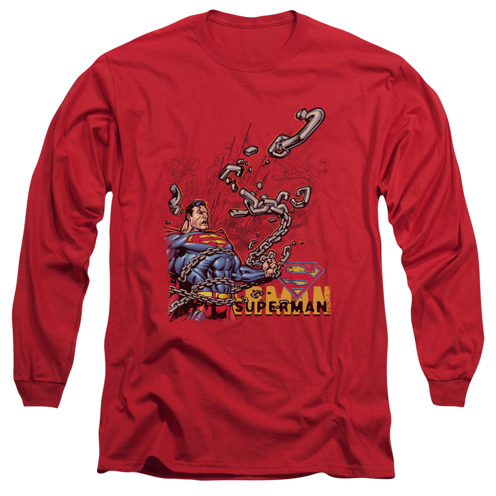 Superman - Breaking Chains Long Sleeve Adult 18/1