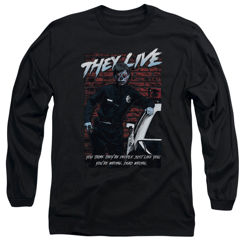 They Live - Dead Wrong Long Sleeve Adult 18/1