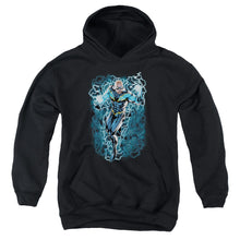 Jla - Black Lightning Bolts Youth Pull Over Hoodie
