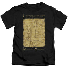 Harry Potter - Marauder's Map Interior Words Short Sleeve Juvenile 18/1