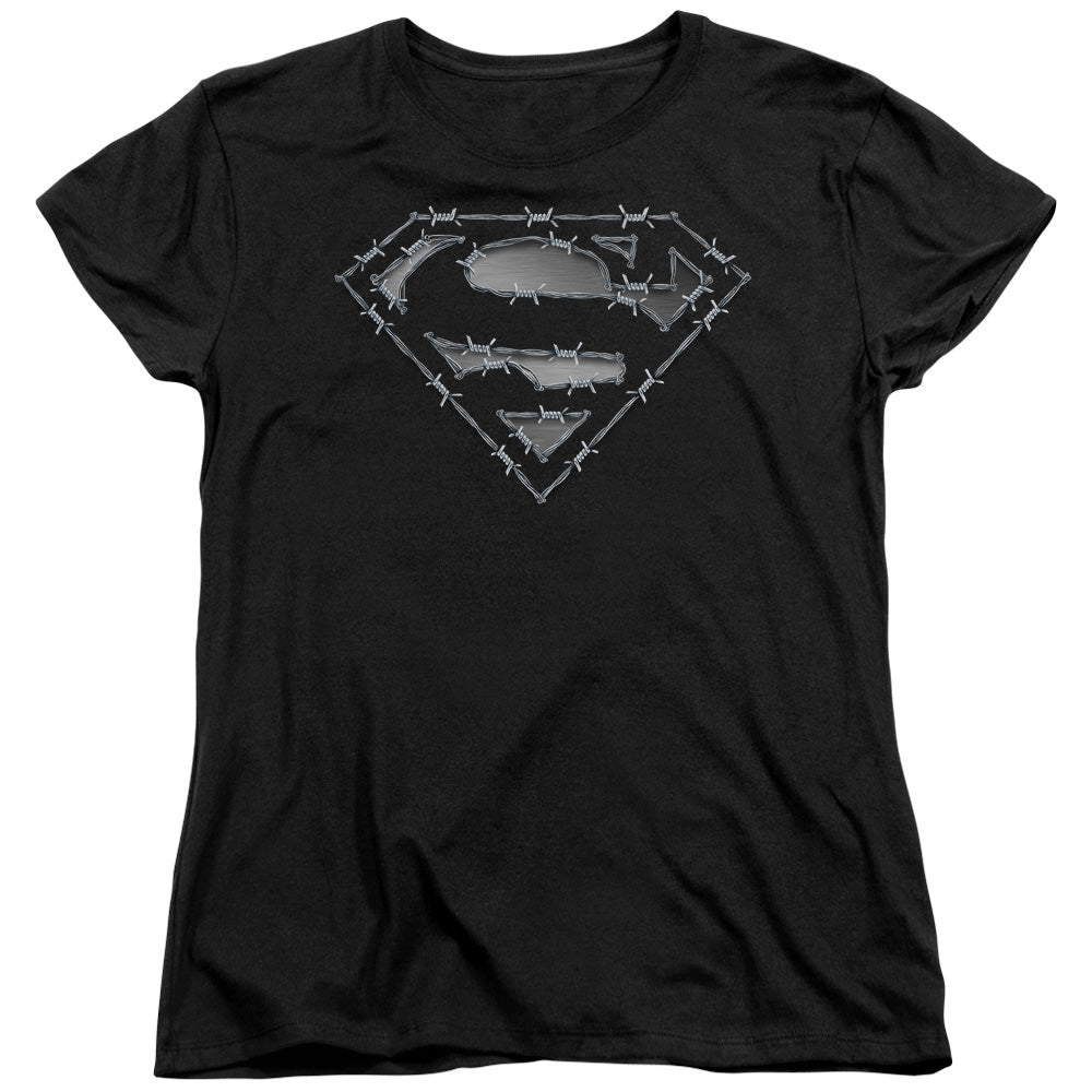 Superman - Barbed Wire Short Sleeve Women's Tee