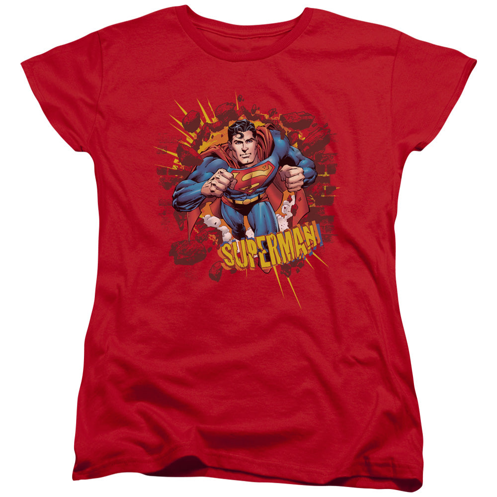 Superman - Sorry About The Wall Short Sleeve Women's Tee