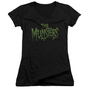 The Munsters - Distress Logo Junior V Neck