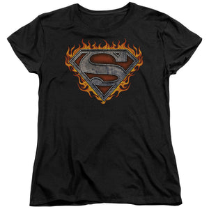 Superman - Iron Fire Shield Short Sleeve Women's Tee
