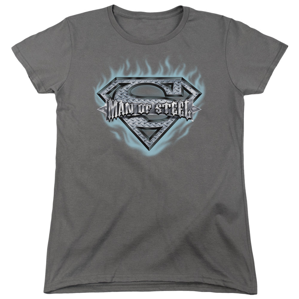 Superman - Man Of Steel Shield Short Sleeve Women's Tee