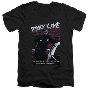 They Live - Dead Wrong Short Sleeve Adult V Neck
