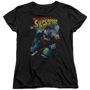 Superman - Through The Rubble Short Sleeve Women's Tee