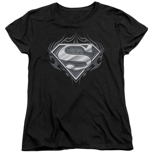 Superman - Biker Metal Short Sleeve Women's Tee