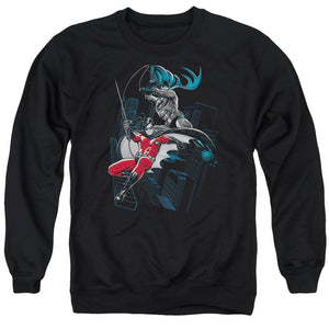 Batman - Black And White Adult Crewneck Sweatshirt