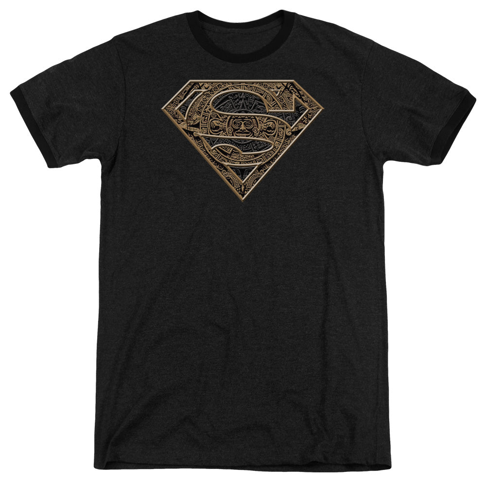 Superman - Aztec Shield Adult Heather
