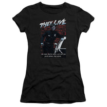 They Live - Dead Wrong Short Sleeve Junior Sheer
