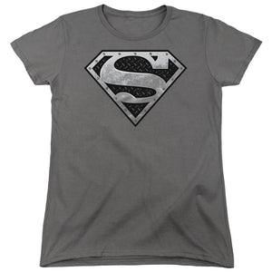 Superman - Super Metallic Shield Short Sleeve Women's Tee