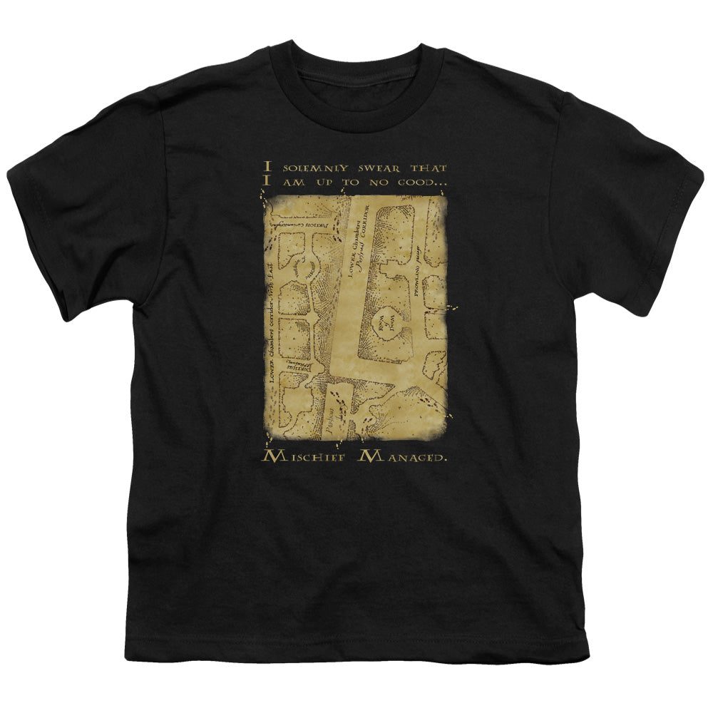 Harry Potter - Marauder's Map Interior Words Short Sleeve Youth 18/1