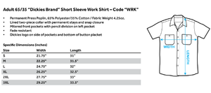 Batman - Cyber Bat Shield (Back Print) Adult Work Shirt