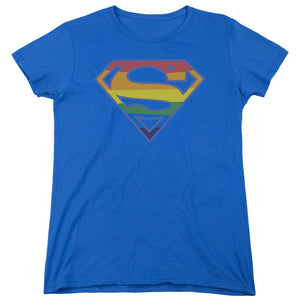 Superman - Prismatic Shield Short Sleeve Women's Tee
