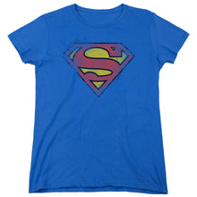 Superman - Destroyed Supes Logo Short Sleeve Women's Tee