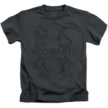 Harry Potter - Literary Crests Short Sleeve Juvenile 18/1