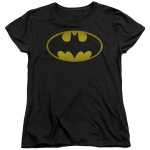 Batman - Washed Bat Logo Short Sleeve Women's Tee