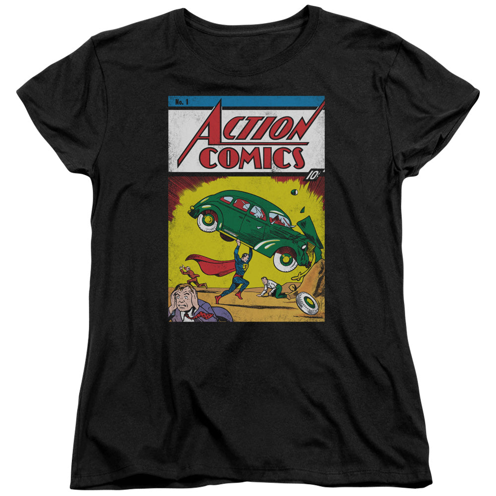 Superman - Action No. 1 Short Sleeve Women's Tee