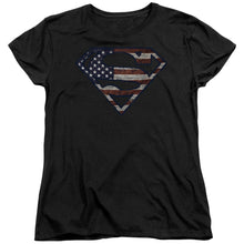 Superman - Wartorn Flag Short Sleeve Women's Tee