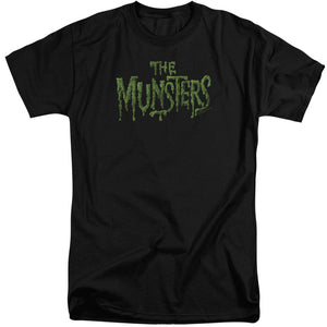 The Munsters - Distress Logo Short Sleeve Adult Tall